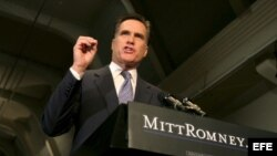 Fotografía de archivo del aspirante presidencial republicano Mitt Romney.