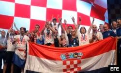 Runner up Croatian national team in Zagreb