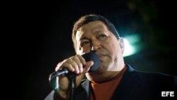 Fotografía de archivo del presidente venezolano, Hugo Chávez.