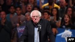 El senador demócrata Bernie Sanders, uno de los candidatos favoritos en Iowa.