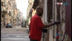 Artista independiente se niega a borrar su arte de las paredes de La Habana