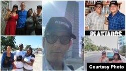 """Fotos en redes sociales de cubanos en la isla con la gorra que promociona el filme """"Plantados""""."""