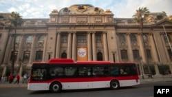 Autobús eléctrico en Santiago de Chile.