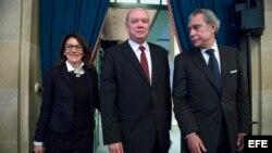 Rodrigo Malmierca, ministro de Comercio de Cuba, visitó la Cámara de Comercio de Estados Unidos, en Washington.