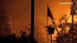 Una veintena de hectáreas y centenares de casas destruídas por los fuegos en California