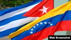 Banderas de Cuba y Venezuela