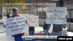 Protesta de los veteranos en Laredo, Texas.