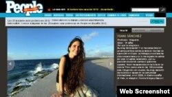 Yoani en la lista de la revista People en español