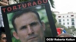 Protesta por encarcelamiento de José Daniel Ferrer frente al Consulado de España, en Coral Gables. (Foto: Roberto Koltún)