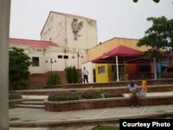 Ciudad de Camagüey Plaza del Gallo en reparación