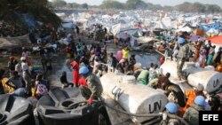 Refugiados en Sudán del Sur.