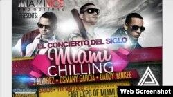 """Poster del concierto """"Miami Chilling"""""""