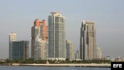 Vista panorámica de Miami Beach, Florida.