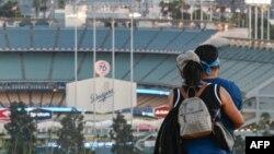 El estadio de los Dodgers en Los Angeles, en agosto del 2020.