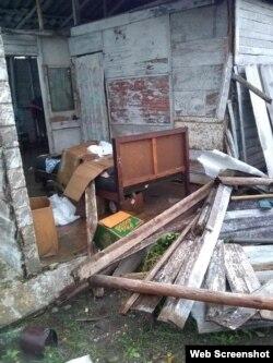 Tormenta causó daños en viviendas de Santa Clara. Foto Erik Eduardo Facebook