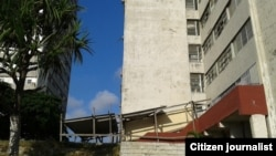 Torres de la Esquina de Tejas, en deplorable estado. (Foto Steve Maikel Pardo)
