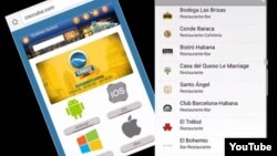 Reporta Cuba. Imagen de pantalla de un celular.