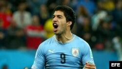 Luis Suárez, de la selección de Uruguay