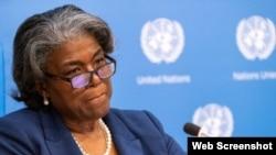 Linda Thomas-Greenfield, embajadora de EEUU ante Naciones Unidas (© Mary Altaffer/AP Images).
