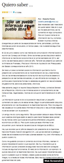 El Post de la Joven Cuba.