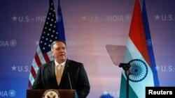 El Secretario de Estado Mike Pompeo durante un discurso pronunciado en Nueva Delhi, el 26 de junio de 2019. REUTERS/Adnan Abidi