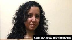 La periodista independiente Camila Acosta.
