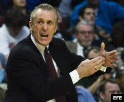 Foto de archivo del presidente de los Heat de Miami, Pat Riley.