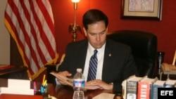 Marco Rubio en su despacho senatorial