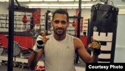 El pugilista cubano Alexei Collado
