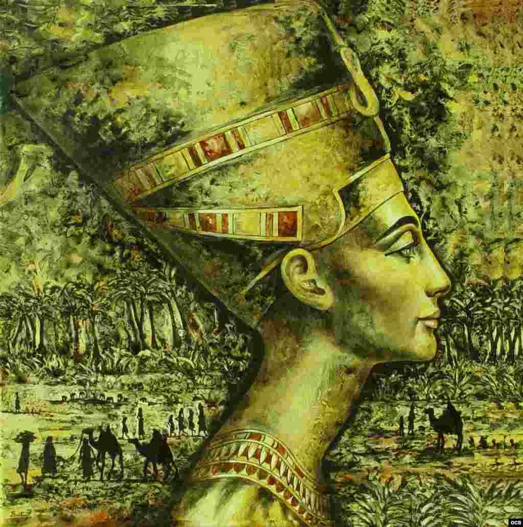 Nefertiti. El paso por el Nilo (porcelana).