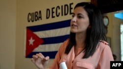 Rosa María Payá, en una imagen de archivo. (Yamil LAGE / AFP)