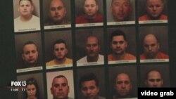 """Algunos de los arrestados durante la operación """"Hydro Hustlers"""". (Captura de video/FOX13)"""