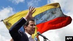 El presidente encargado de Venezuela Juan Guaidó