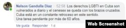 Comentarios en Facebook de CENESEX Nelson Gandulla