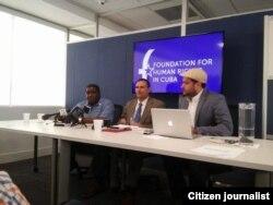 Conferencia de Presna dos disidentes cubanos Foto Facebook Foundation Human