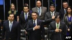 Juramentación de Jair Bolsonaro como presidente de Brasil.