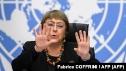 Michelle Bachelet. (Fabrice COFFRINI / AFP)