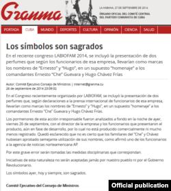 Editorial del Comité del Consejo de Ministros de Cuba publicado en Granma