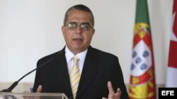 El vicecanciller cubano Marcelino Medina, de visita en Portugal.
