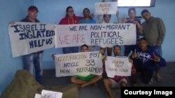 Migrantes cubanos en islas Caimán.