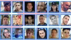 Algunos de los rostros de jóvenes detenidos, desaparecidos, enjuiciados o pendientes de juicio por manifestarse pacíficamente el 11 de julio en Cuba. (Foto: Facebook)