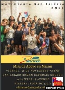 Directorio Democrático Cubano invita a misa por MSI