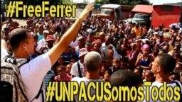 Tuit de la campaña por la liberación de José Daniel Ferrer. (Foto: Liettys Rachel Reyes @liettysrachel)