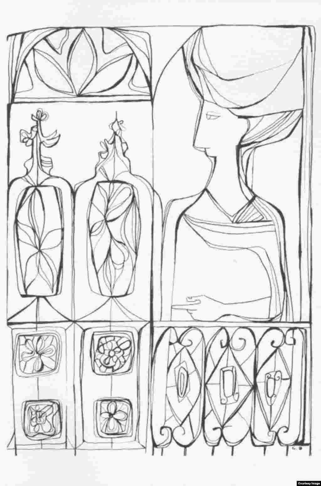 Dibujos de Cundo Bermúdez para el cuaderno Mañas de la poesía.