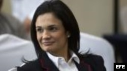 La vicepresidenta y canciller de Panamá, Isabel de Saint Malo de Alvarado.Foto Archivo.EFE.