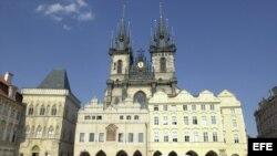 Detalle de la iglesia de Nuestra Señora del Tyn en Praga.