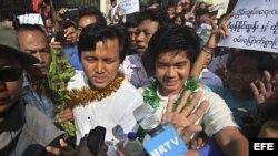 Amnistía para los presos políticos en Birmania.