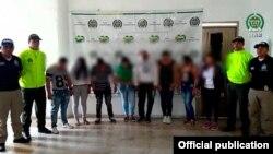 Banda de Tráfico humano. Foto Tomada de Dirección de Investigación Criminal e Interpol DIJIN
