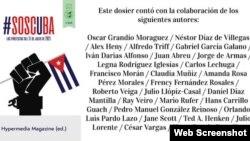 Portada del la edición especial de Hypermedia Magazine sobre la rebelión en Cuba.