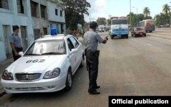 Un carro de la Policía